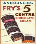 Frys 5 Centre Cocoa & Chocolates - Metal Advertising Wall Sign